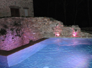 Illuminazione a LED piscina interrata